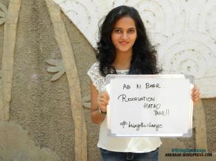 AB KI BAAR…RESERVATION HATAO YAAR. #BRINGTHECHANGE